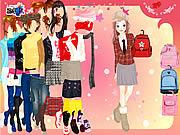 School Bag Dressup game