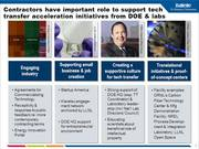 Watch free video Managing Technology Transfer at National Labs