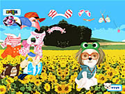 Juega al juego gratis Puppy in the Field Dressup