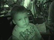 Sleepy Boy in Restaurant