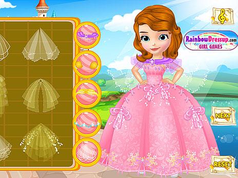 Play Design Princess Sofia s Wedding Dress game online