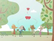 Mira dibujos animados gratis Valentine's Day Card