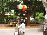 Watch free video Time Lapse of a Balloon Vendor