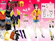 Open Knit Pullover Dressup game