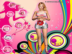 Britney Spears in 3D Dressup game