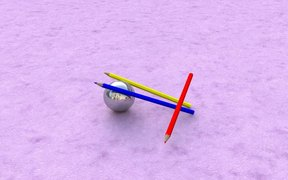 Watch free video Pencils Dropped Slow Motion