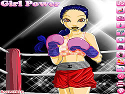 Boxing Girl Dress Up game