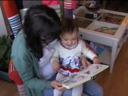 Watch free video Litlle Girl Is Reading a Book Acting Like Animals