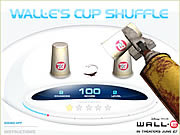 Wall-E's Cup Shuffle game