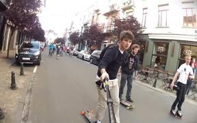 Watch free video Evian Roller-Bike Parade