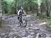 Watch free video Marius on a short technical bike ride