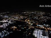 Watch free video Night Flight Detroit - Landing