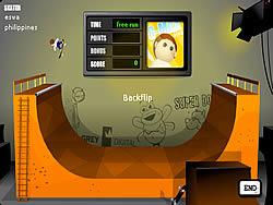 Half Pipe Skateboarding game