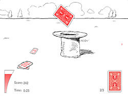Card Throwing game