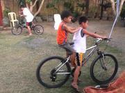Watch free video Kids Riding The Bike