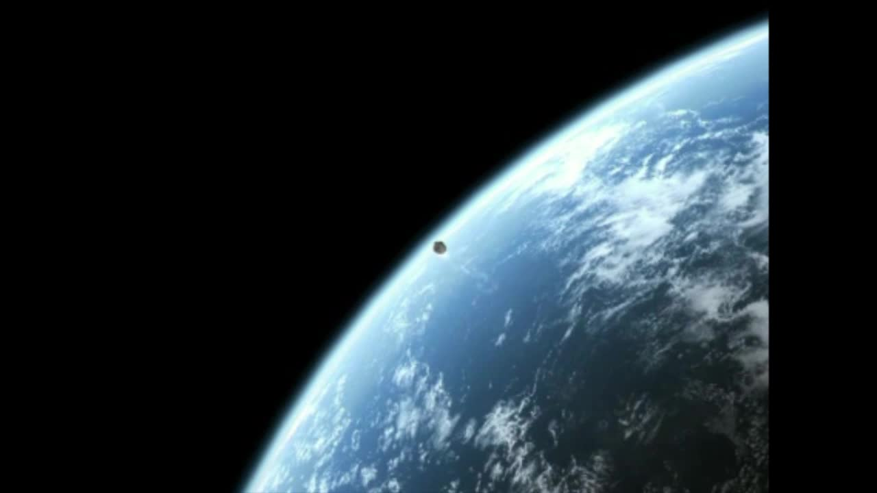 Watch free video Hypothetical Near Pass of Asteroid-1