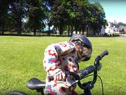 Watch free video Amelie Learns to ride her bike