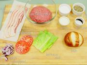 Watch free video The Caramelized Onion Bacon Burger