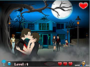 שחקו במשחק בחינם Halloween Kiss