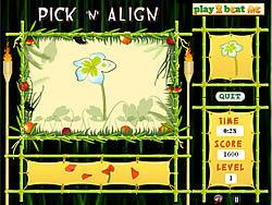Pick 'n' Align game
