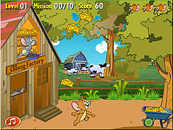 Tom and Jerry in Super Cheese Bounce game