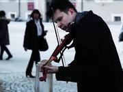 Street Violinist In Salzburg