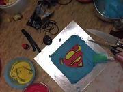 Watch free video Superman Cake Decorating