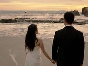 Watch free video Romantic Photo Session On The Beach