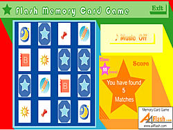 Flash Memory Card Game game