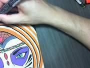 Watch free video Santa Muerte Skateboard Design