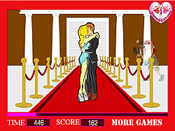 Celebrity Long Kisses game