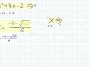 Watch free video Quadratic Formula and the Discriminant