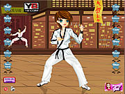 Karate Kickin Chic Dress Up game
