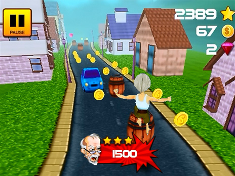 Grandpa Run 3D game