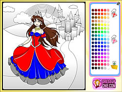 play castle of princess coloring game game online y8com