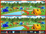 Camping - Spot The Difference game