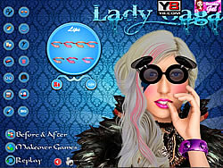 Lady Gaga Celebrity Makeover game