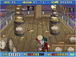 Scooby Doo's Pirate Pie Toss game