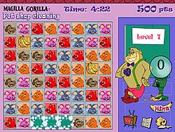Jouer au jeu gratuit Magilla Gorilla - Pet Shop Cleaning
