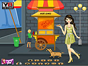 Juega al juego gratis Hotdog Gal Dress Up