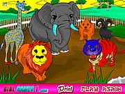 Juega al juego gratis Zoo Coloring Game