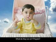 Watch free video MTS India Commercial: Baby Visits God