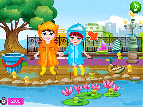 Baby and Friend Rainy Day game