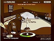 Juega al juego gratis Brown Cow Curling