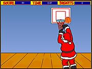 Juega al juego gratis Santa Hoops