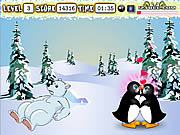 Penguin Kissing game
