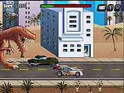 T-Rex Rampage: Prehistoric Pizza game