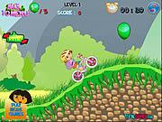 เล่นเกมฟรี Dora's Bike Ride