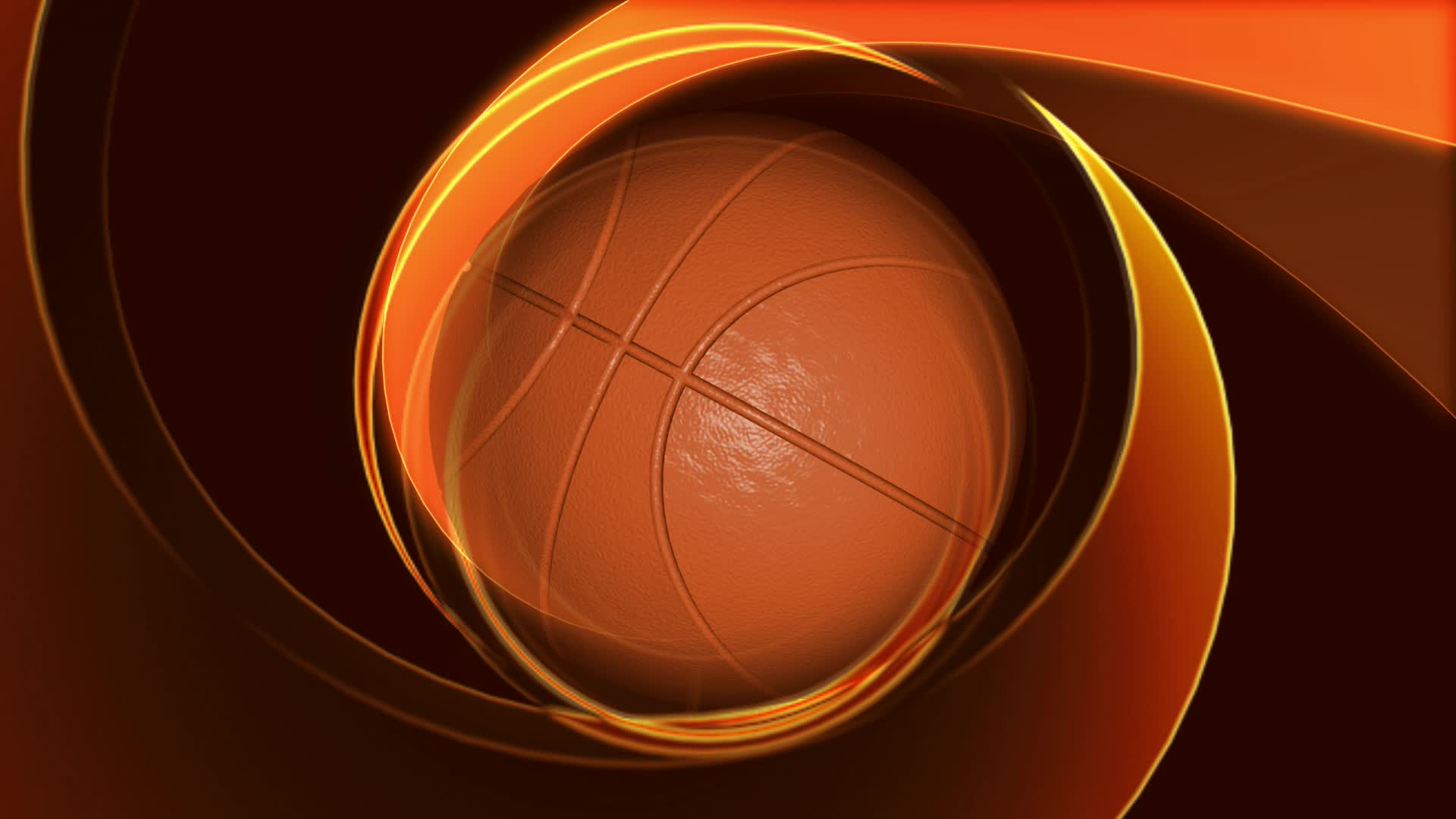Watch free video Spinning Basketball on Abstract Background
