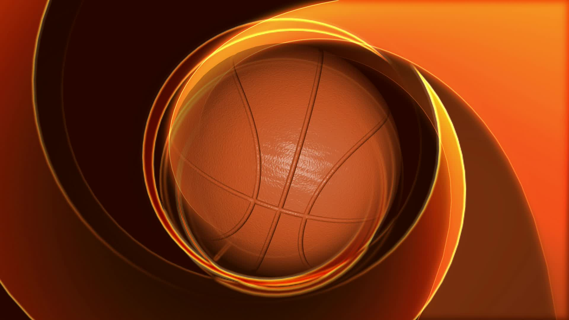 Mira dibujos animados gratis Spinning Basketball on Abstract Background